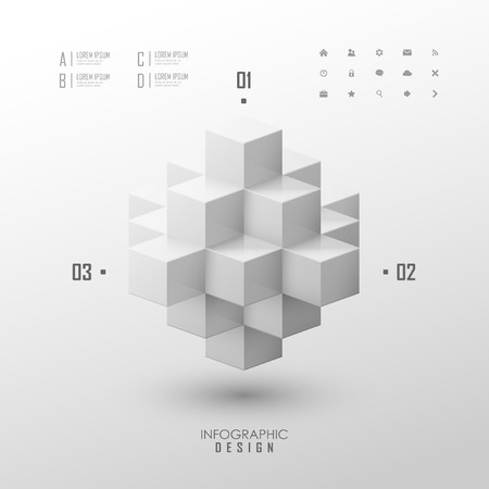 cubic: Vector infographic or web design template