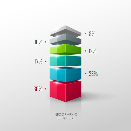 colour chart: Vector data presentation template Illustration