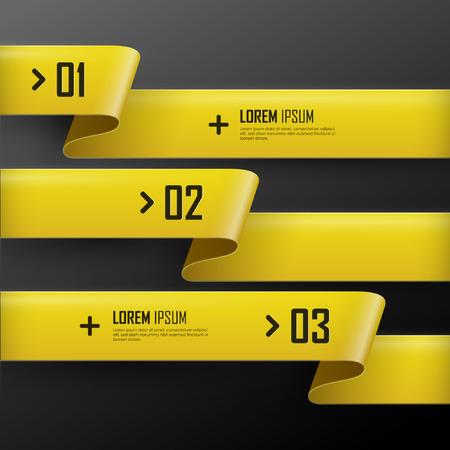 pancarta: Vector brillantes banderas amarillas establecen