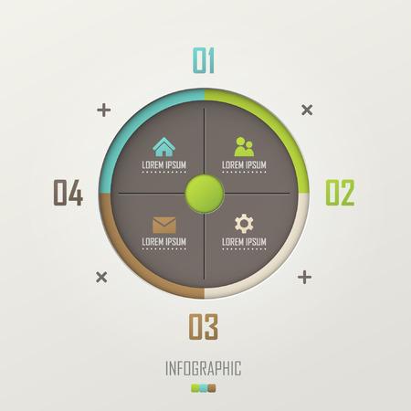 Vector infographic template design Çizim