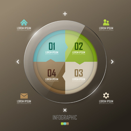 website template: Vector infographic template design Illustration