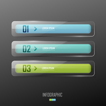 Vector colorful glass banners Vectores