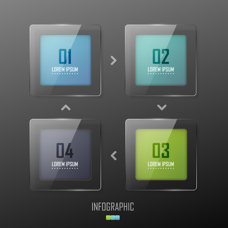 Vector colorful glass banners Vettoriali