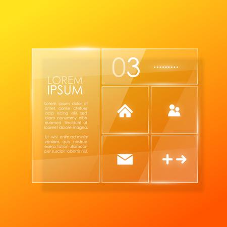vidrio: Diseño de la plantilla Sitio Web