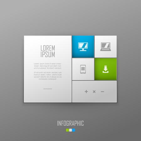 Vector website template design Çizim
