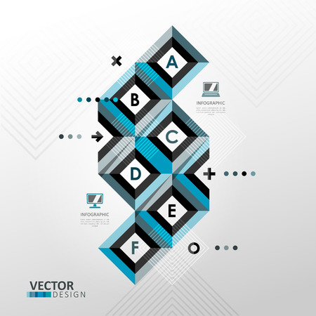 minimal style: Colorful vector infographic template in minimal style Illustration