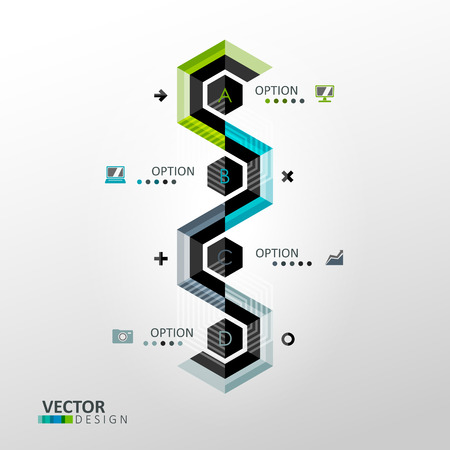 Vector infographic template in minimal style Çizim