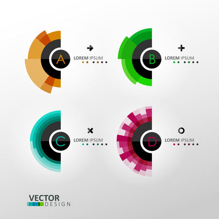 Colorful vector labels Vector
