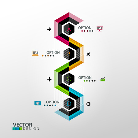 minimal style: Vector infographic template in minimal style Illustration