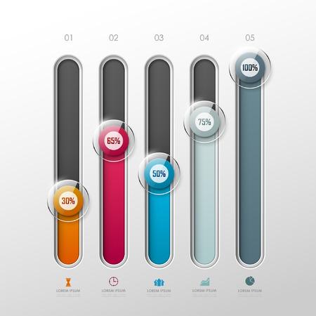 Vector plantilla de gráficos en estilo moderno. Para infografía y presentación