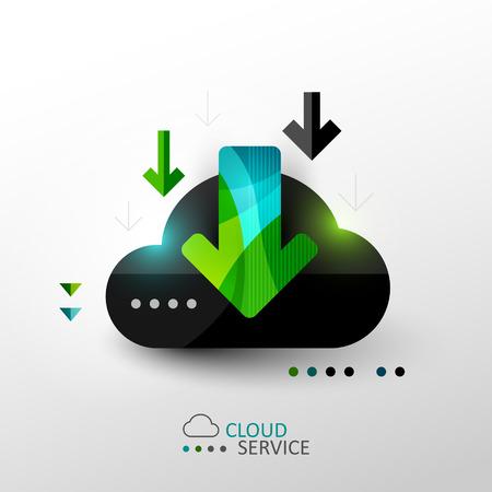 cloud service: Cloud service concept illustration Illustration
