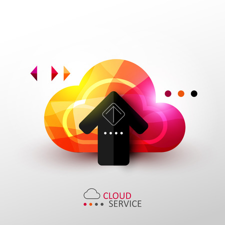 Cloud service concept illustration Çizim