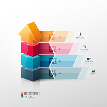 モダンなスタイルのベクトル テンプレート。インフォ グラフィックのプレゼンテーション