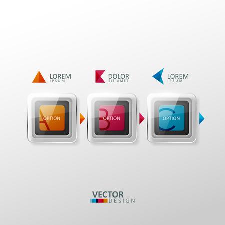 ベクトル カラフルなデザイン要素です。インフォ グラフィックや web のデザインのテンプレートです。