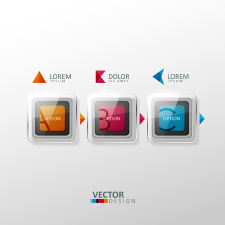 Vector colorful design elements. Template for infographic or web design. Vector