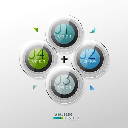 Vector colorful design elements. Template for infographic or web design.