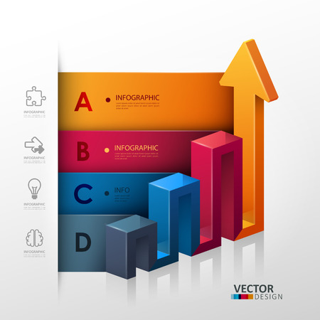 Vector template in modern style. For infographic and presentation Vector