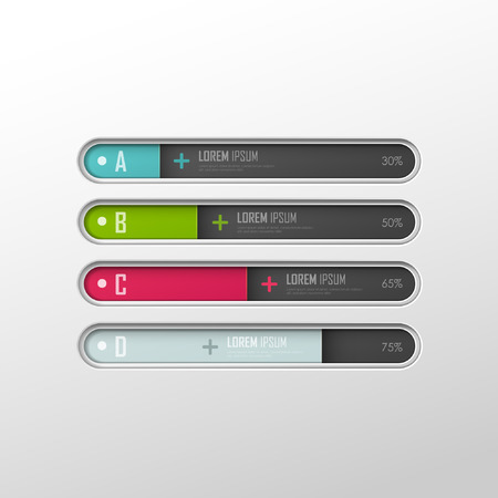 Vector template for web design or infographic Vector