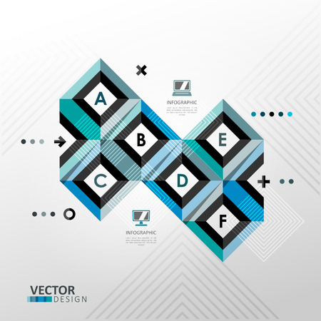 Vector infographic template in minimal style Vector