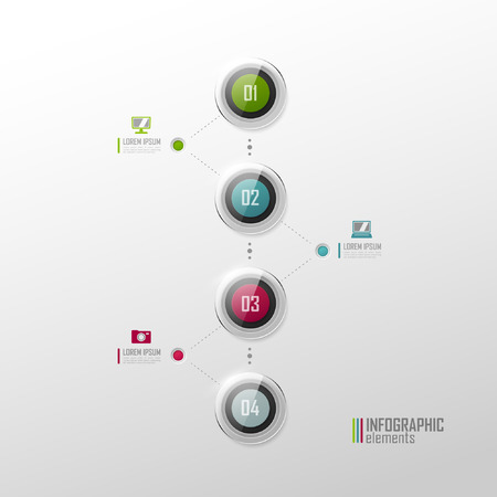 Timeline infographic. Vector template. Vector