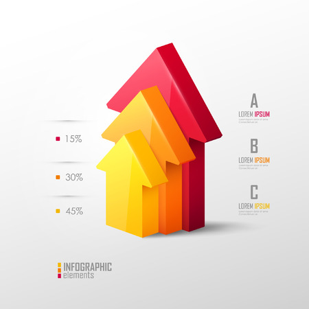 Vector template in modern style. For infographic and presentation Çizim