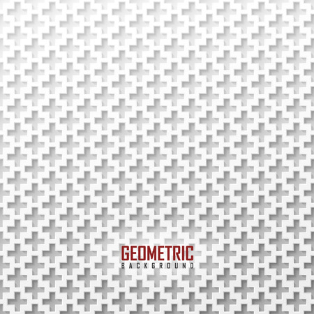 mesh: White vector geometric background