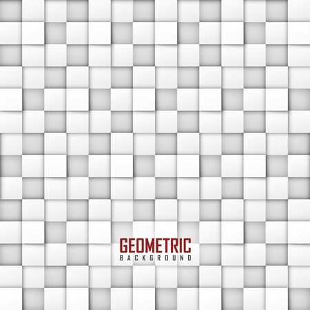 White vector geometric background