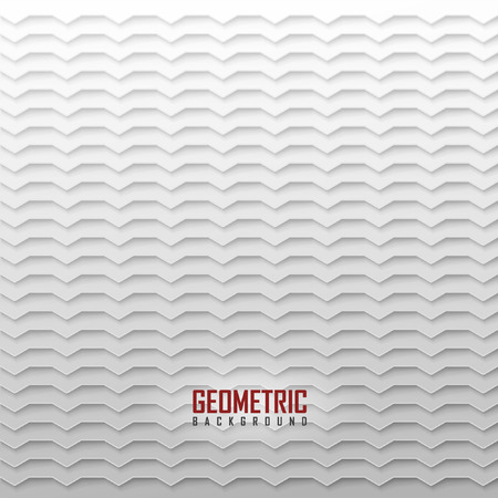 on a white background: White vector geometric background