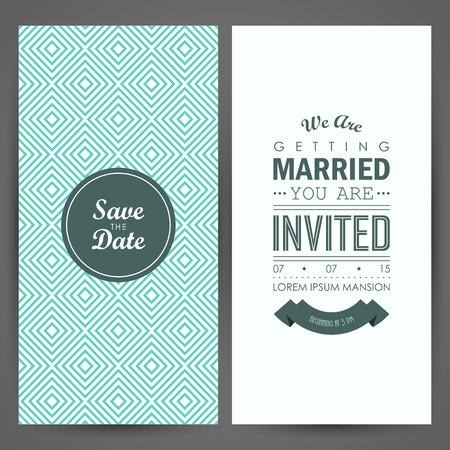 Wedding invitation. Vector illustration Vettoriali