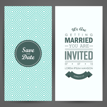 Wedding invitation. Vector illustration Çizim