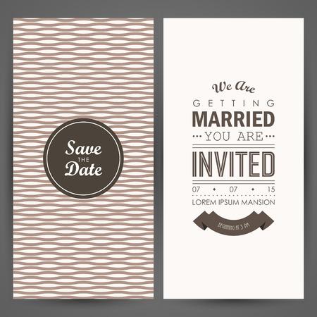 tarjeta de invitacion: Invitación de boda. Ilustración vectorial