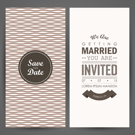 pastel background: Wedding invitation. Vector illustration Illustration