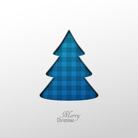 tree design: Bright vector christmas greeting card