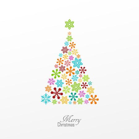 christmas greeting card: Bright vector christmas greeting card