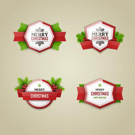 Christmas labels set Stock fotó - 46604359