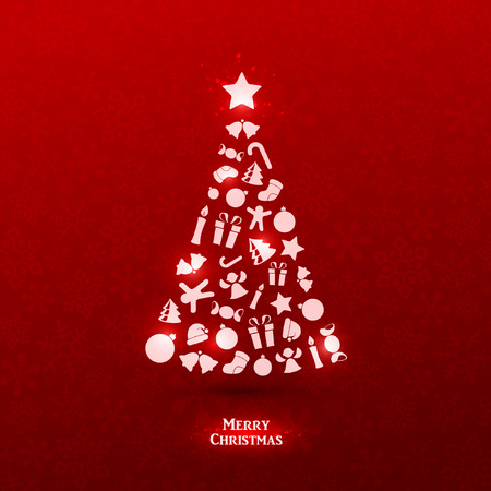Bright vector christmas greeting card