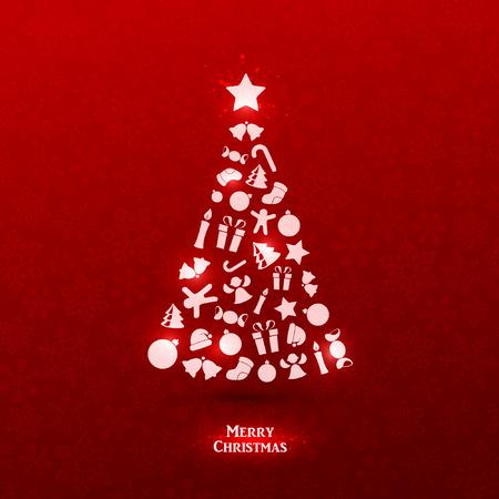 Bright vector christmas greeting card