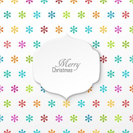 greeting christmas: Bright vector christmas greeting card