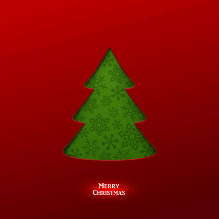 christmas paper: Bright vector christmas greeting card