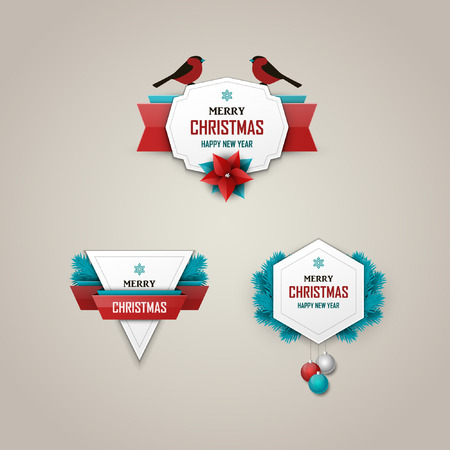 christmas banner: Christmas labels set