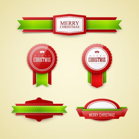 Christmas labels set
