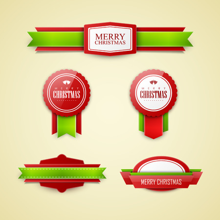 label design: Christmas labels set