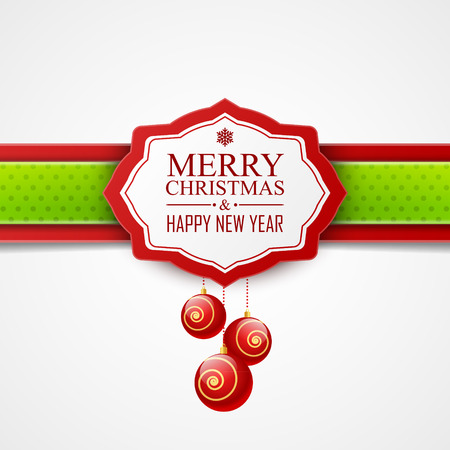green banner: Christmas card