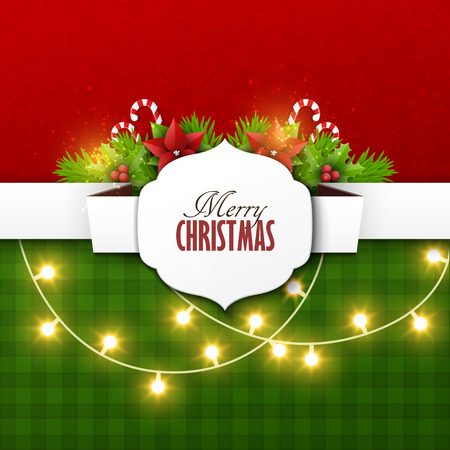 Christmas background with fir twigs and decoration elements Imagens - 47388899