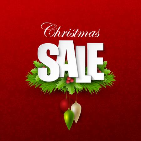 Christmas sale background Çizim