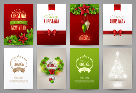 new year celebration: Christmas backgrounds set