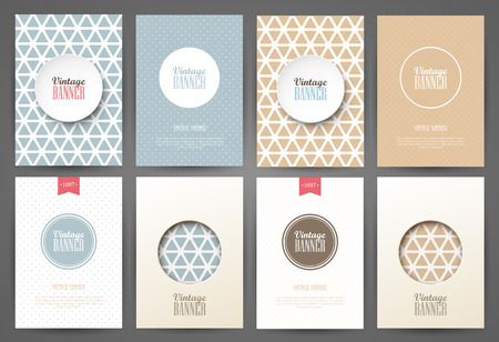 vector backgrounds: Set of brochures in vintage style. Vector design templates. Vintage frames and backgrounds. Illustration