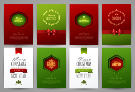 Christmas backgrounds set