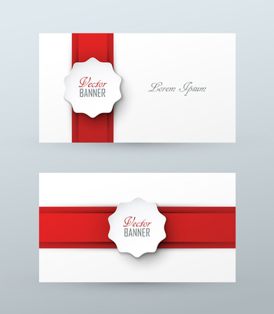 gift ribbon: Stylish vector business cards
