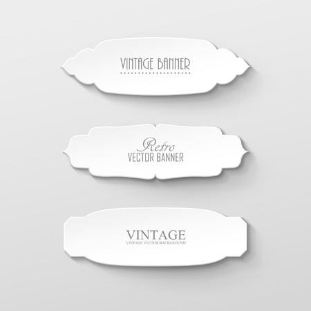 papercraft: Set of paper labels in vintage style